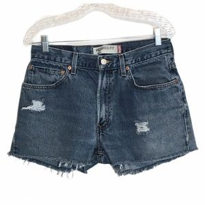 Vtg Levis 550 Distressed High Waist Cutoff Shorts